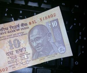 Gandhi sur un billet de banque